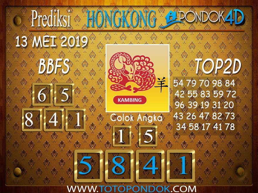 Prediksi Togel HONGKONG PONDOK4D 13 MEI 2019