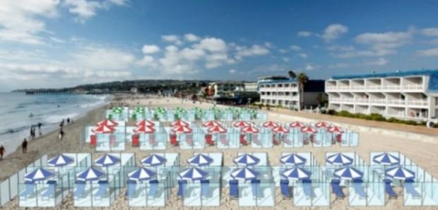Perusahaan Bikin Ruang Kubikel di Pantai Agar Terhindar Corona