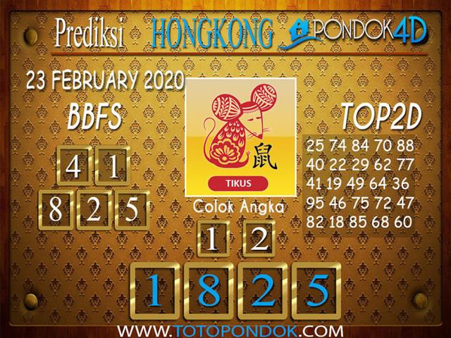 Prediksi Togel HONGKONG PONDOK4D 23 FEBRUARY 2020