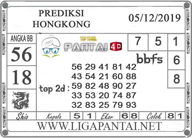 PREDIKSI TOGEL HONGKONG PANTAI4D 05 DESEMBER 2019