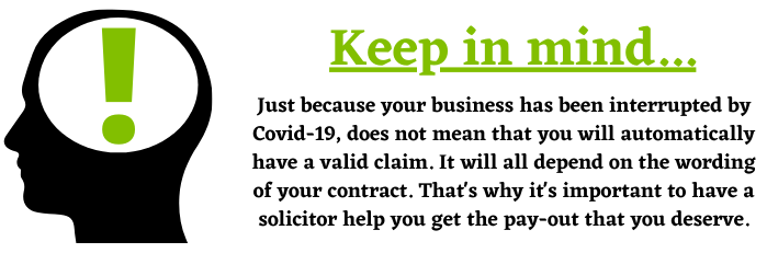 Covid-19 and Business Interruption Insurance Claims