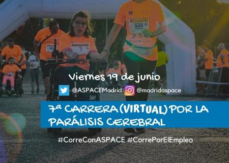 ASPACE Madrid y el Club de Atletismo de San Sebastián de los Reyes organizan la 7ª Carrera (virtual) por la Parálisis Cerebral