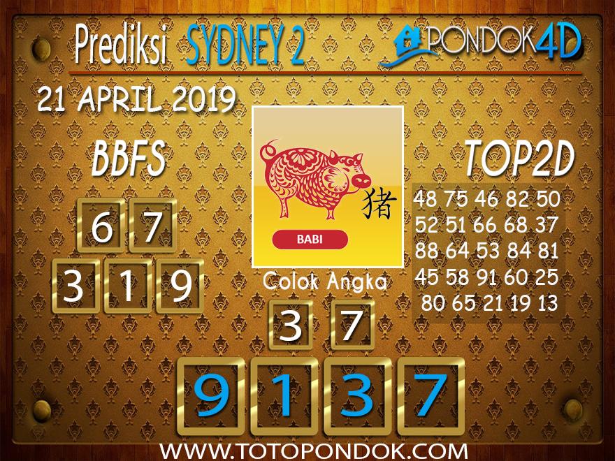 Prediksi Togel SYDNEY 2 PONDOK4D 21 APRIL 2019