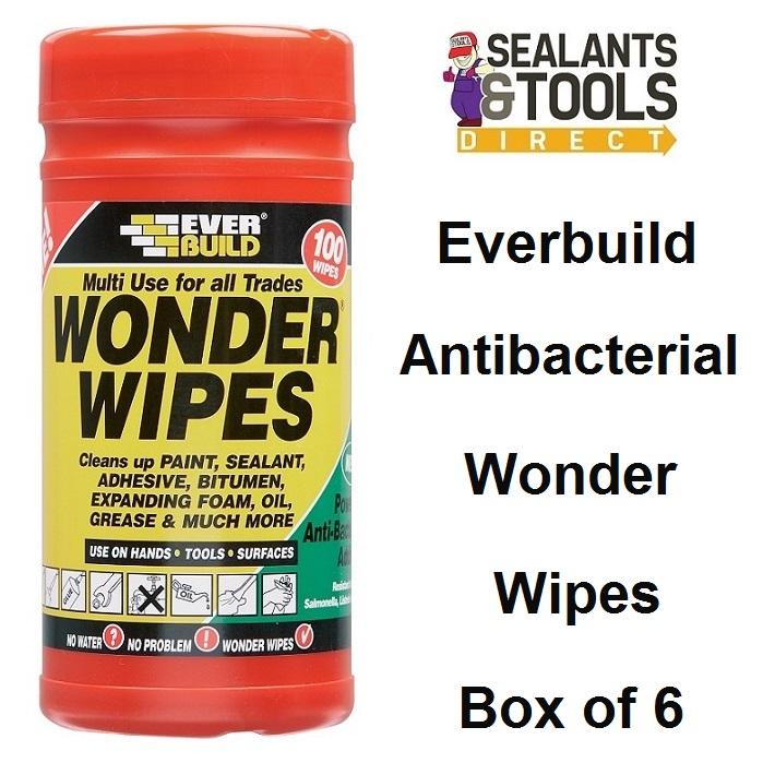 Everbuild Wonder Wipes 100 Wipe Tub Box of 6 WIPE80-6