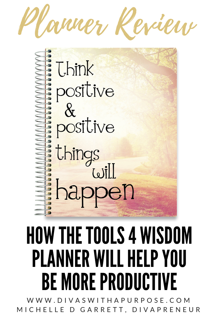 A review of the Tools 4 Wisdom planner and how it can help you be more productive and attain your goals #Tools4Wisdom #planner #review