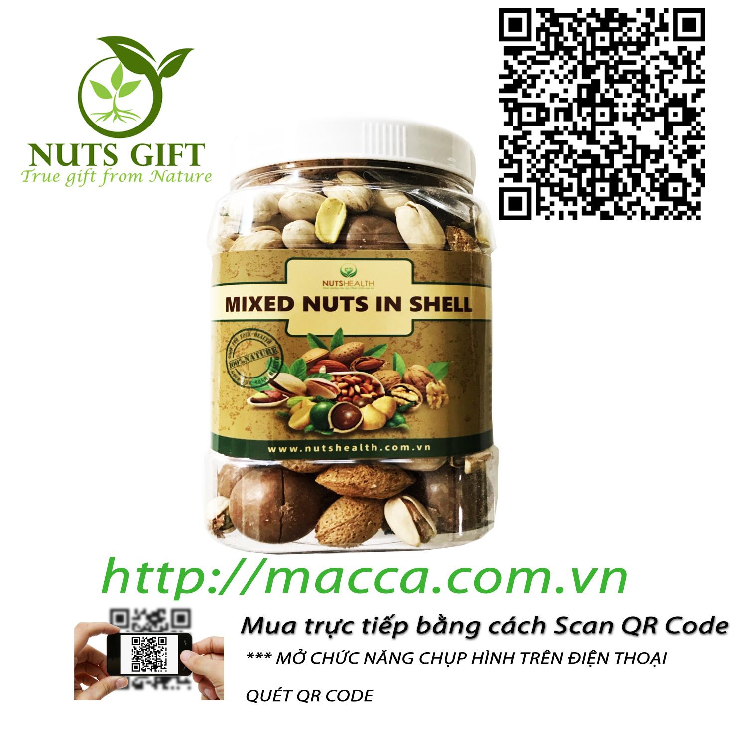 Hạt Tổng Hợp Mixed Nuts còn vỏ – Nutshealth – 500Gr