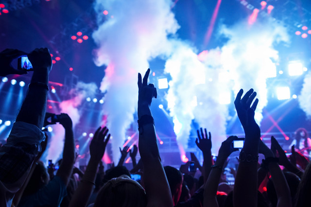 Picture-of-rock-concert-music-festival-New-Year-eve-celebration-party-in-nightclub-dance-floor-disco