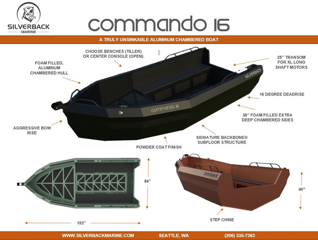 COMMANDO-16-ALUMINUM-CHAMBERED-BOAT-SILVERBACK-MARINE-SEATTLE