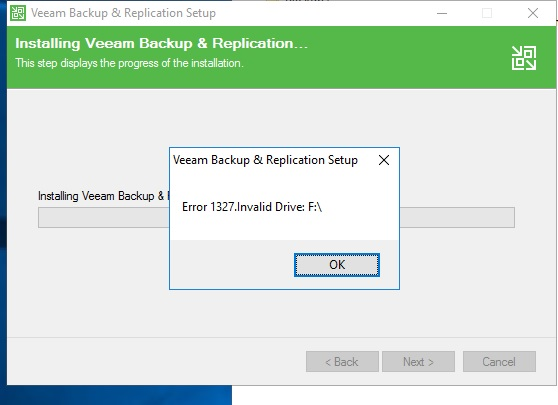 Error 1327 during B&R installation - Veeam Community Forums