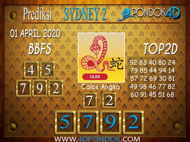 Prediksi Togel SYDNEY 2 PONDOK4D 01 APRIL 2020