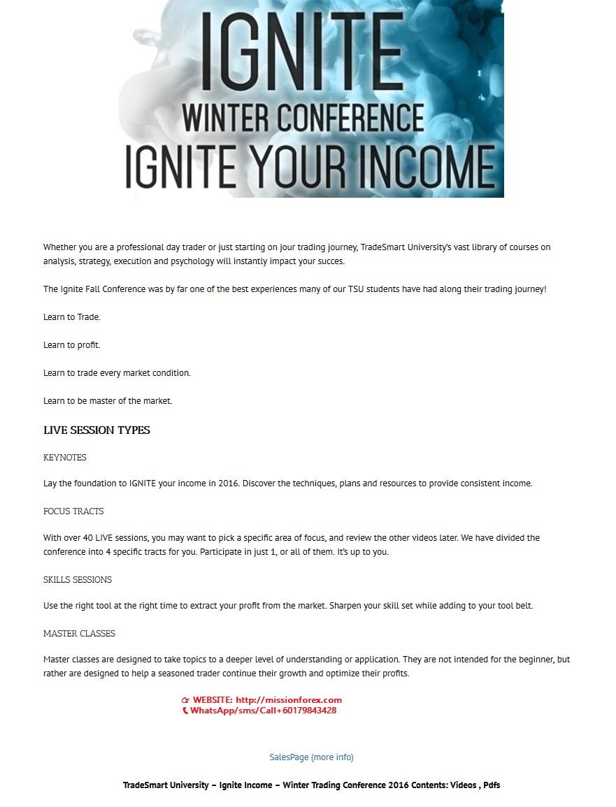 TradeSmart University - Ignite Income - Winter Trading Conference