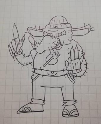Dibujos hechos por nosotros mismos Raton