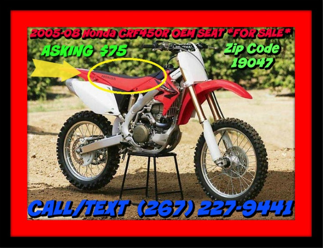 crf450r seat cover photo 2