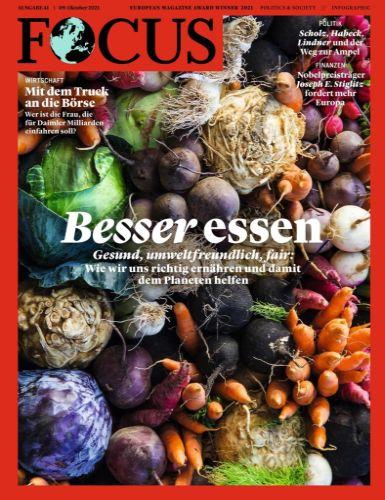 Cover: Focus Nachrichtenmagazin No 41 vom 09  Oktober 2021