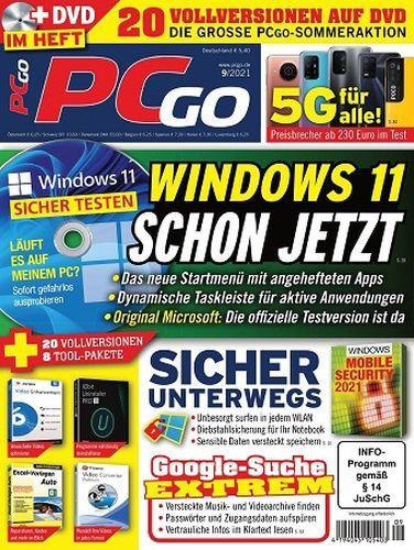 Cover: Pcgo Magazin September No 09 2021