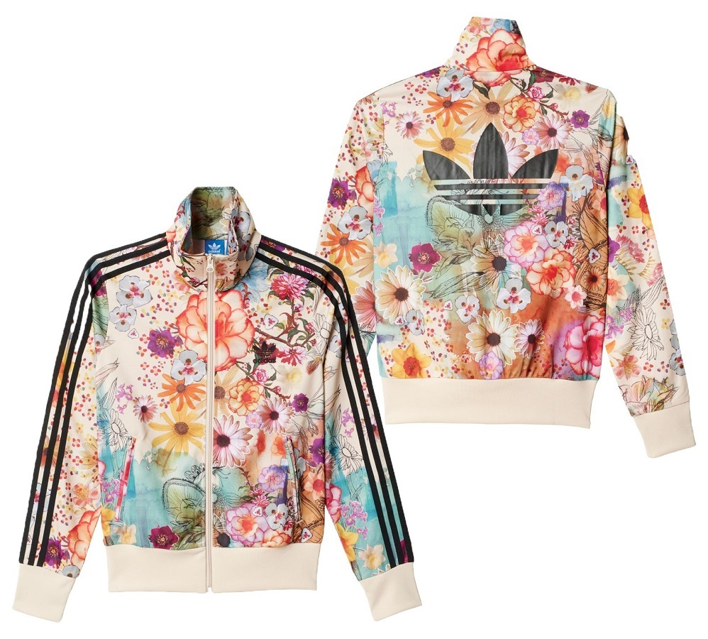 Details about New Rare Adidas Firebird Hoodie Floral Jacket Multicolor  Vintage Womens AJ8151