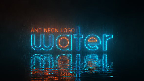 Water and Neon Logo 29819067 - Project for After Effects (Videohive)