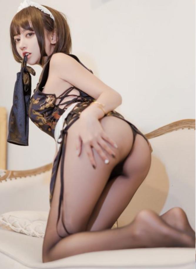 过期米线-黑丝旗袍