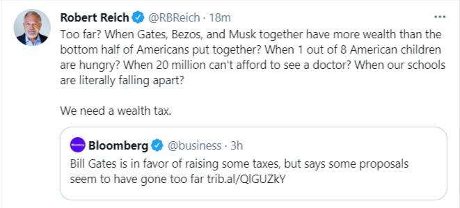 Robert Reich on wealth tax