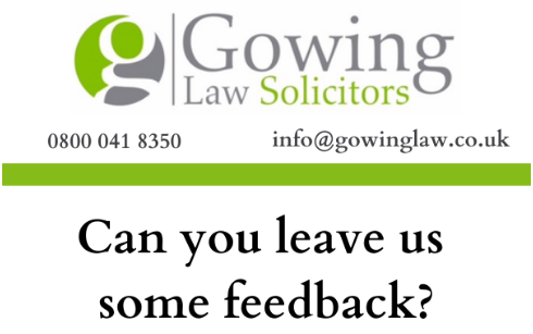 Gowing Law's Loyalty Scheme feedback help