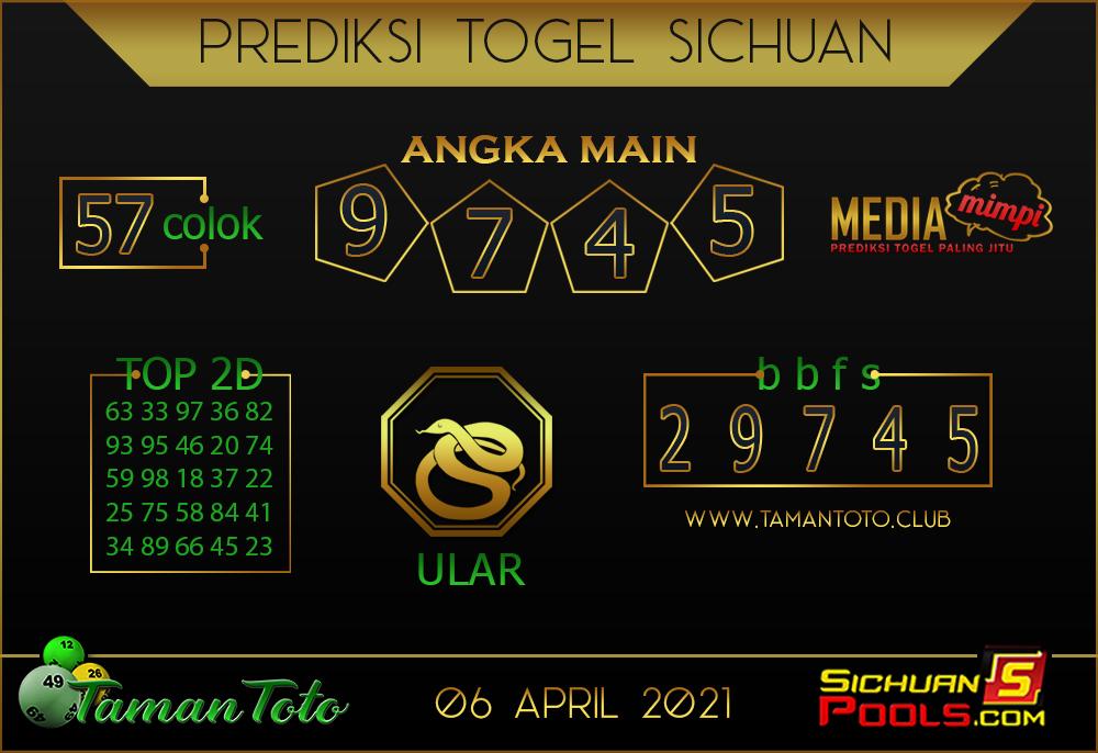 Prediksi Togel SICHUAN TAMAN TOTO 06 APRIL 2021