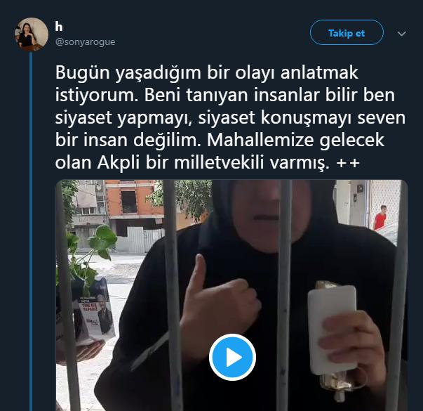 AK Parti Kadın Kolları vatandaşa saldırdı