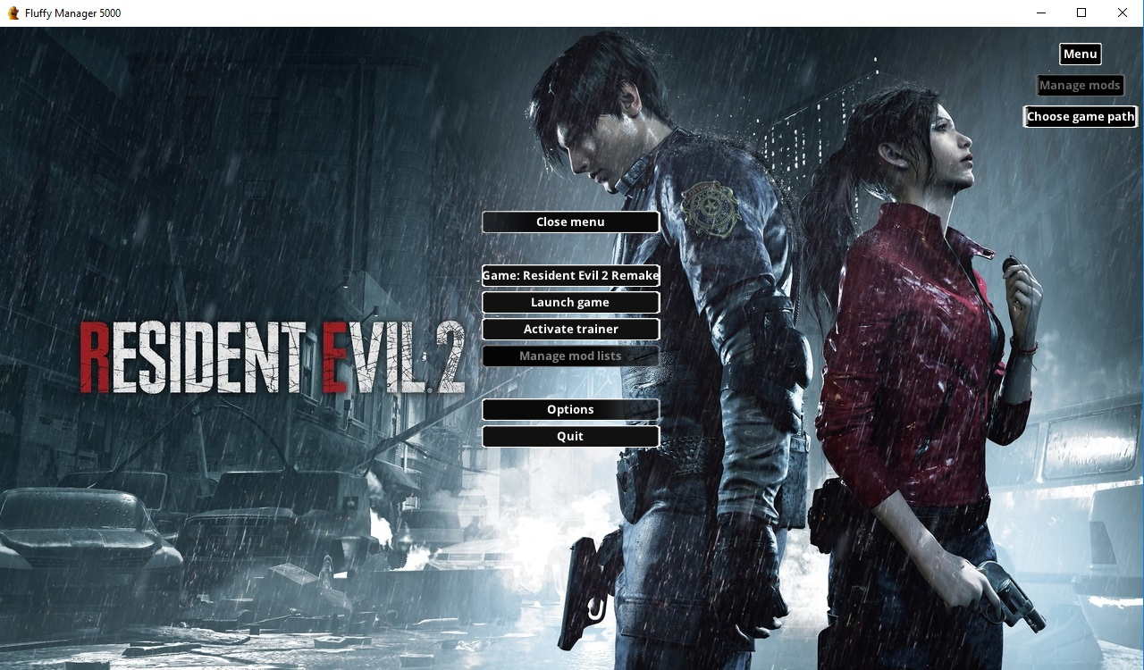 Менеджер модов для Resident Evil 2 Remake / Modding PAK