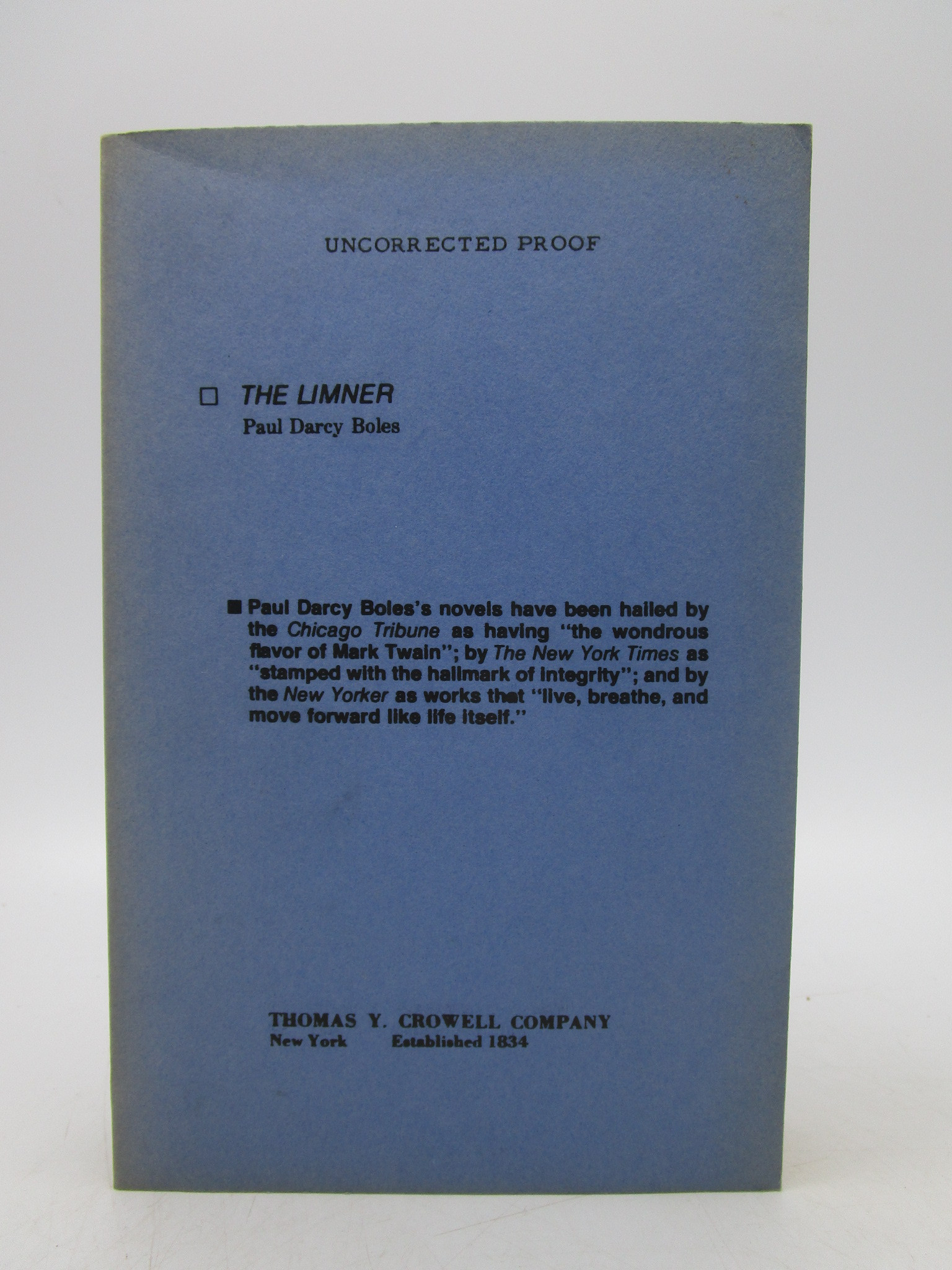 Image for The Limner (Uncorrected Proof)