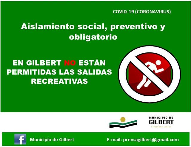 Regionales: Gilbert: Aislamiento social