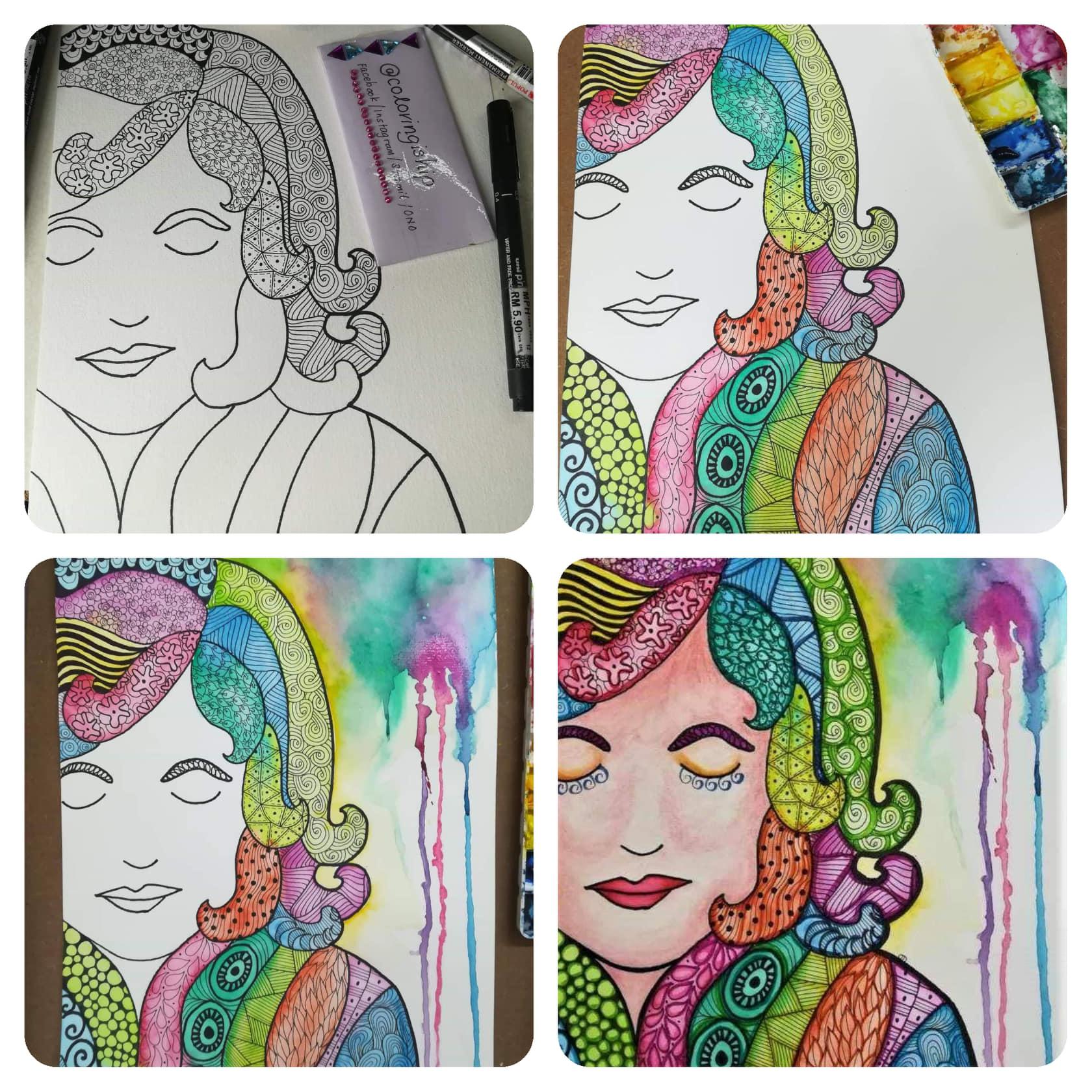 hair doodle art