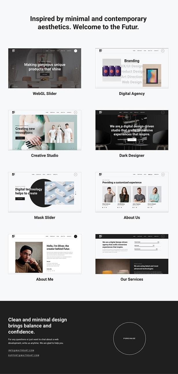 TheFutur - Portfolio Agency Theme