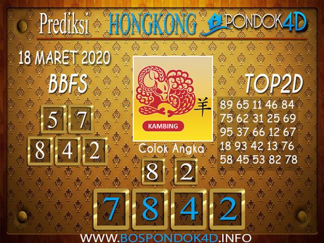 Prediksi Togel HONGKONG PONDOK4D 18 MARET 2020
