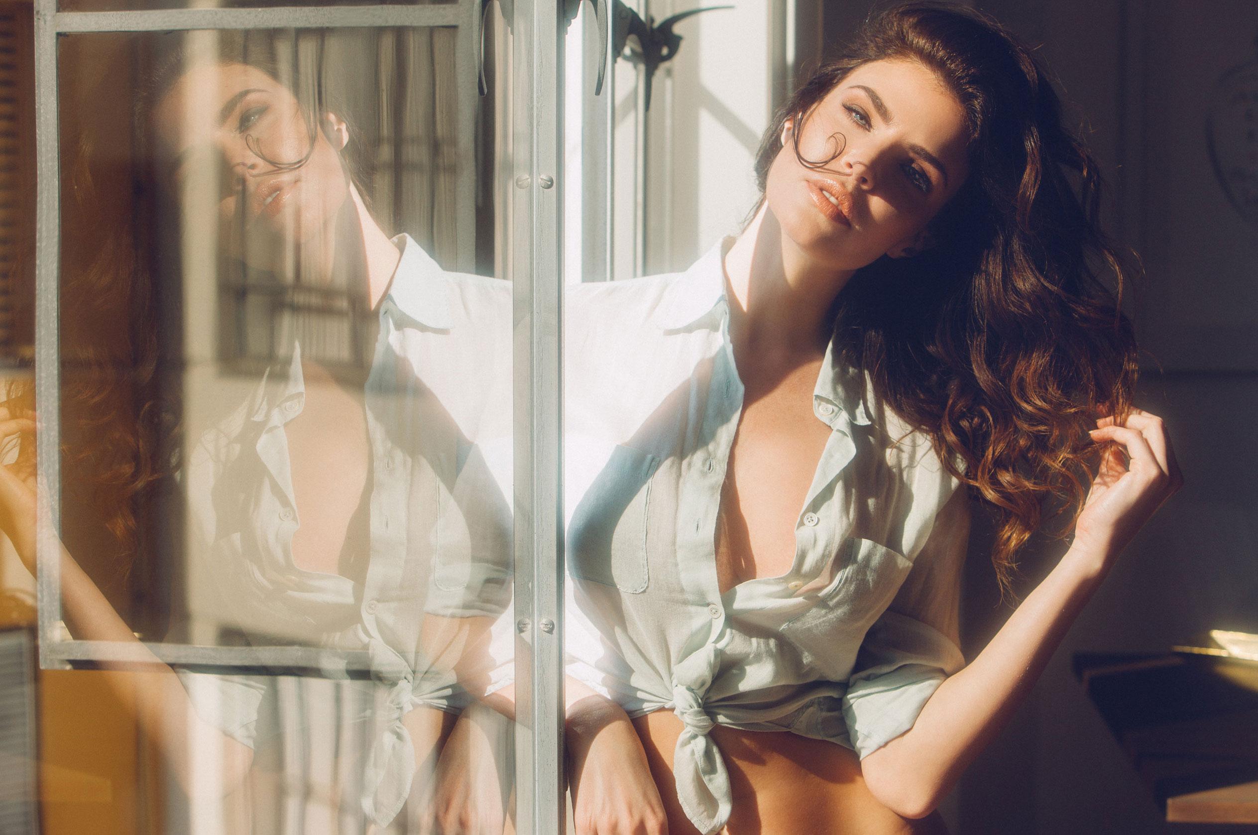 Юлия Лескова в люксовом французском нижнем белье / фото 01