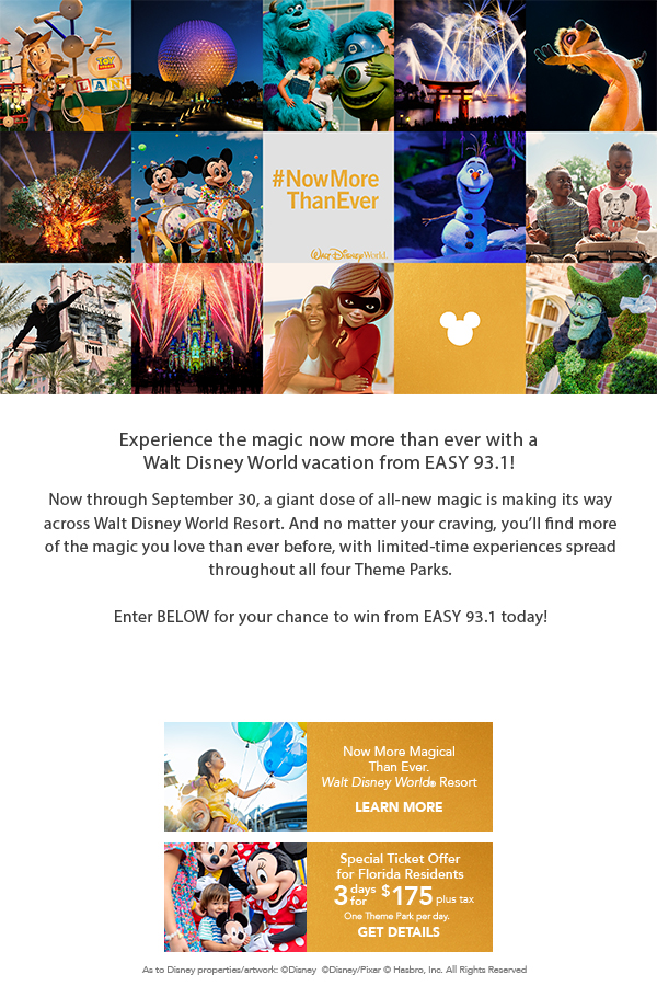 Experience the magic now more than ever with a Walt Disney