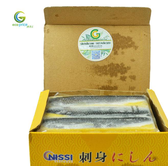 Cá Trích Ép Trứng Vàng- Hộp- 1Kg- GreenGood