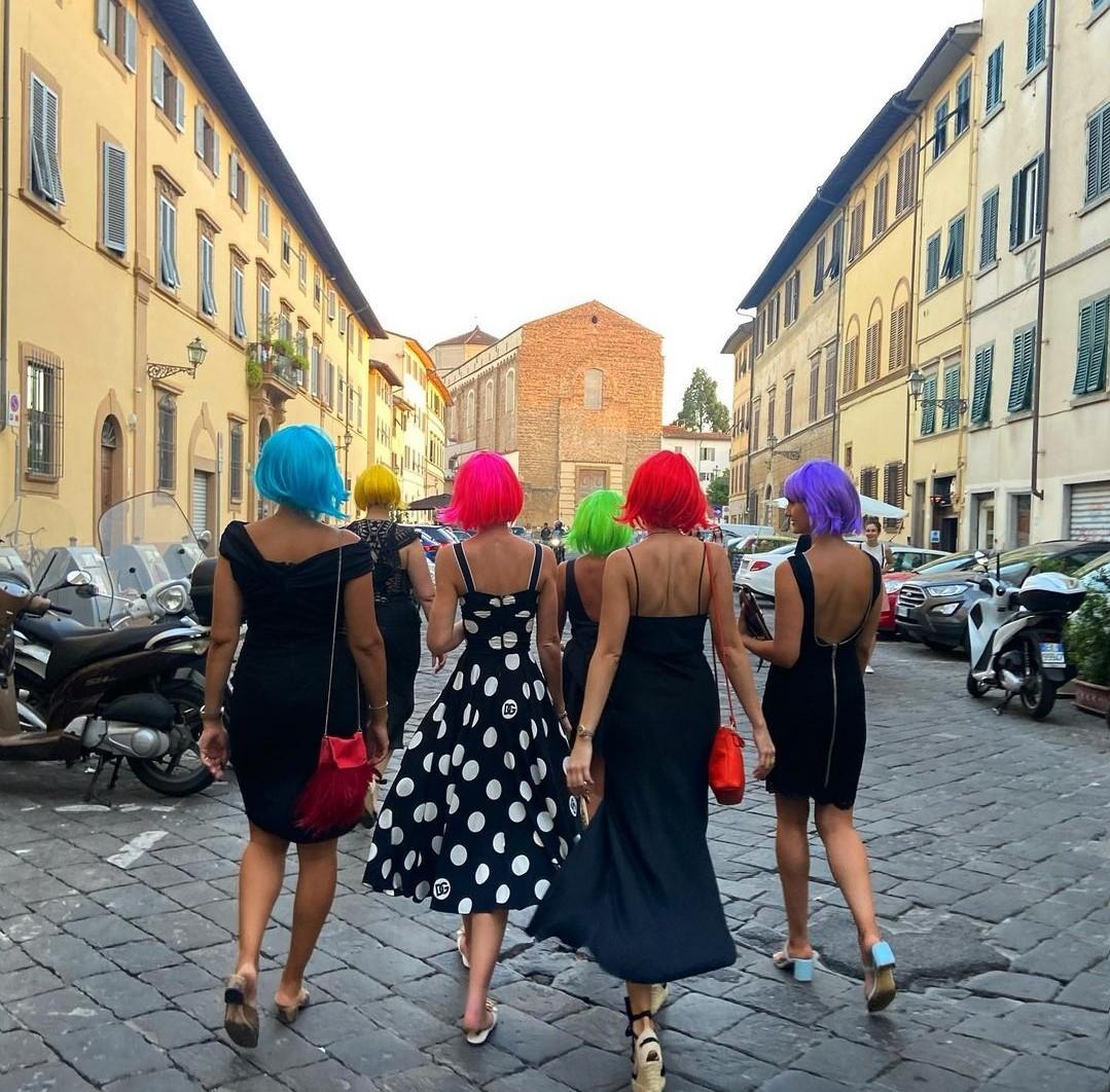 Kitty Spencer, l'addio a nubilato a Firenze