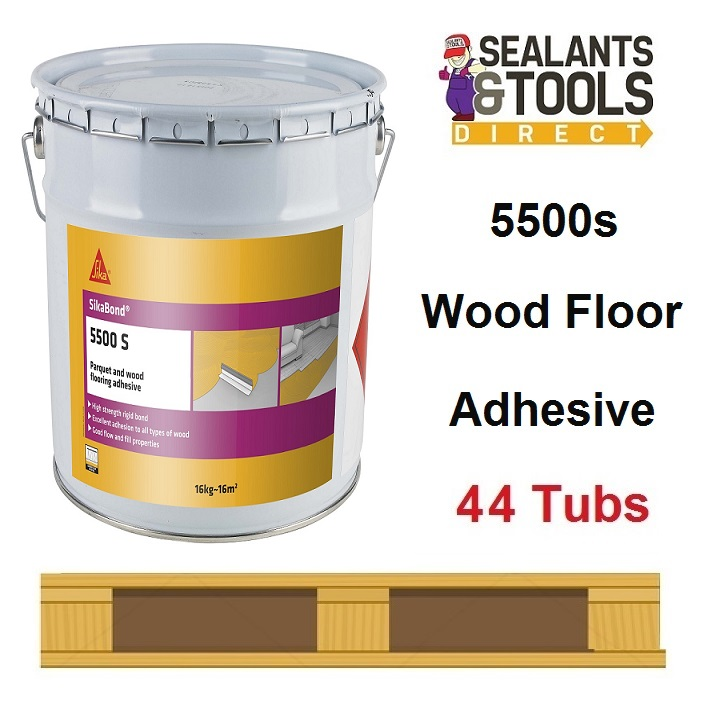 Sika SikaBond 5500 s Wood Flooring Adhesive 5500s 44 Tub Pallet Deal