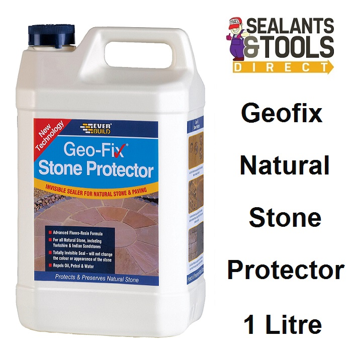 Everbuild Geo-fix Natural Stone Protector Sealer 1 Litre STONE1