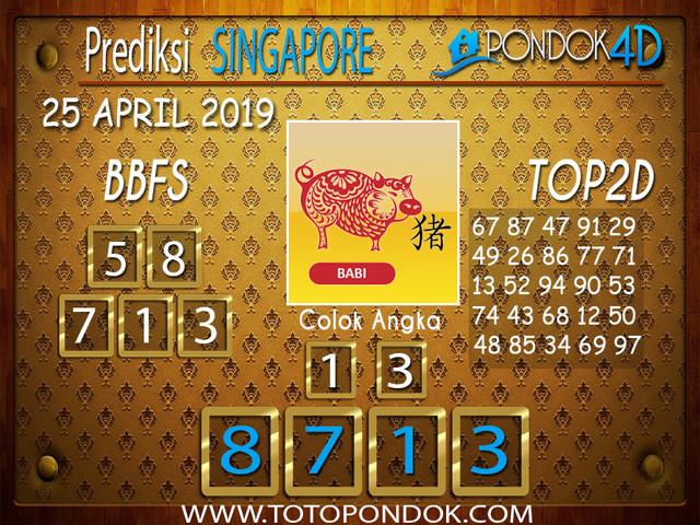 Prediksi Togel SINGAPORE PONDOK4D 25 APRIL 2019