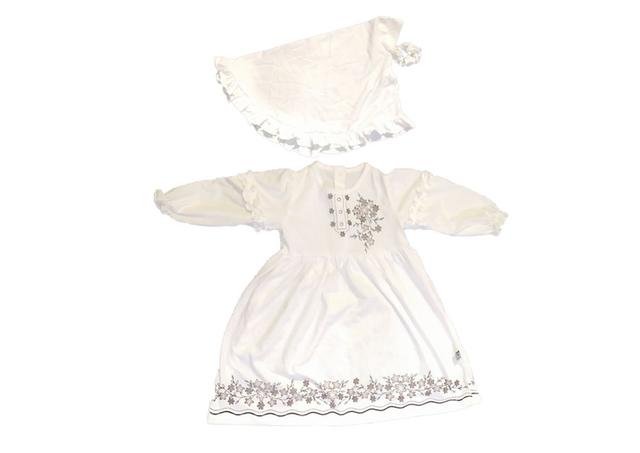 dress putih iyab babywear