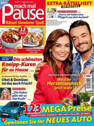 Cover: Mach mal Pause Rätselmagazin No 37 vom 08  September 2021