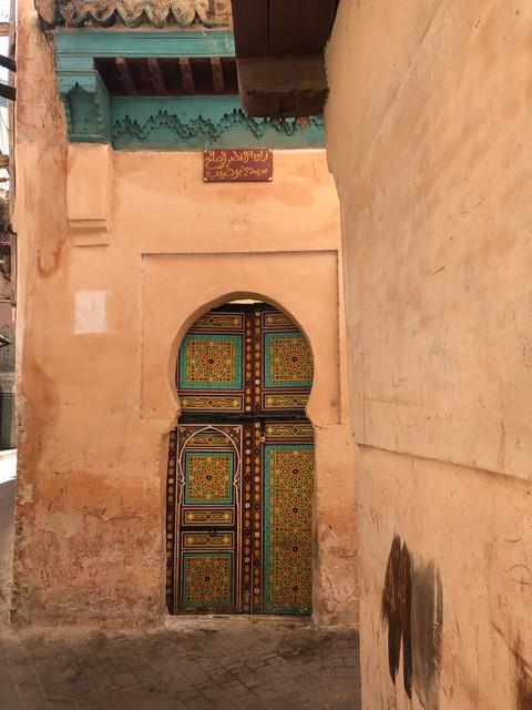Porta di una moschea a Meknès
