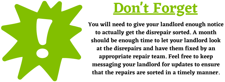 Giving your landlord notice