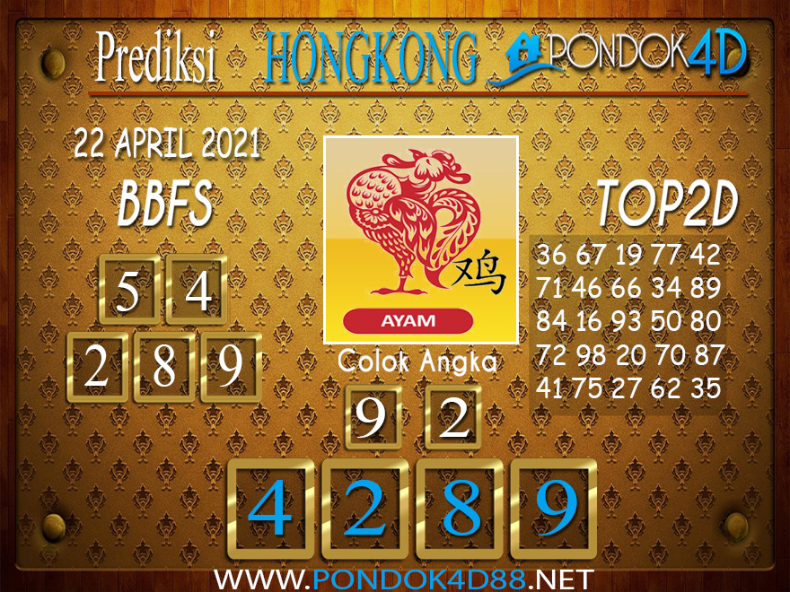 Prediksi Togel HONGKONG PONDOK4D 22 APRIL 2021