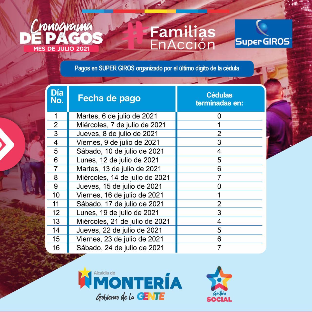 Así se hará el pago de Familias en Acción en Montería en el mes de julio - Noticias de Colombia