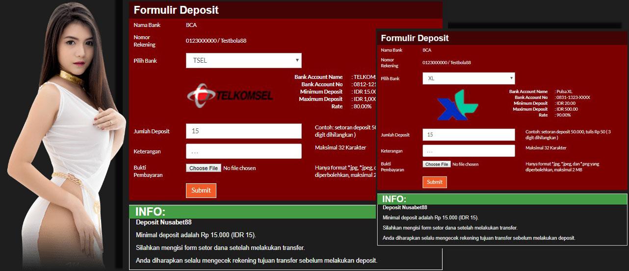 formulir deposit pulsa telkomsel dan xl nusabet88