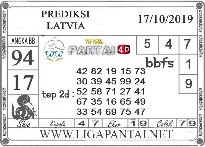 """PREDIKSI TOGEL """"LATVIA"""" PANTAI4D 17 OKTOBER 2019"""