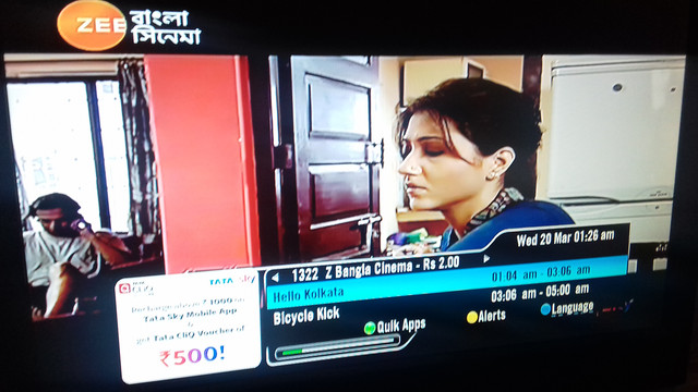 Tatasky changes the LCN of ZBC from 1323 to 1322.