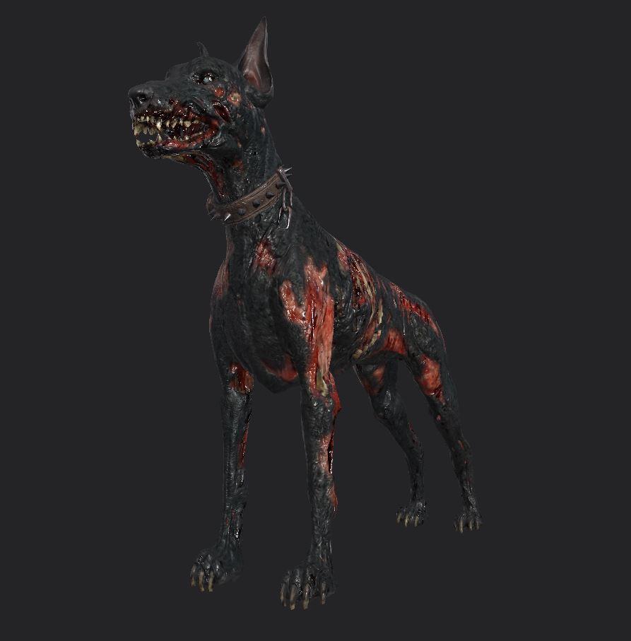 Разработчики 7DtD показали обновлённую версию зомби собаки для 20 альфы
