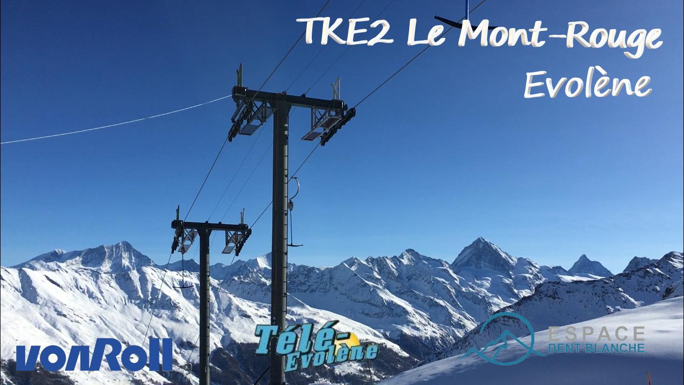 Téléski à enrouleurs biplaces (TKE2) Le Mont-Rouge Banni-re